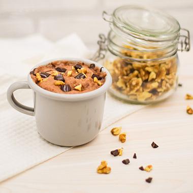 Protein Tassenkuchen Schoko Walnuss