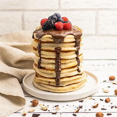 Protein Pancakes mit Schoko-Topping