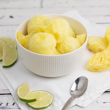 Rezept Ananas-Limetten Sorbet