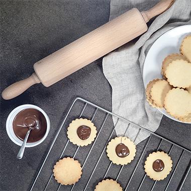 Doppeldecker-Kekse: Schoko-Haselnuss Rezept mit Proteinen
